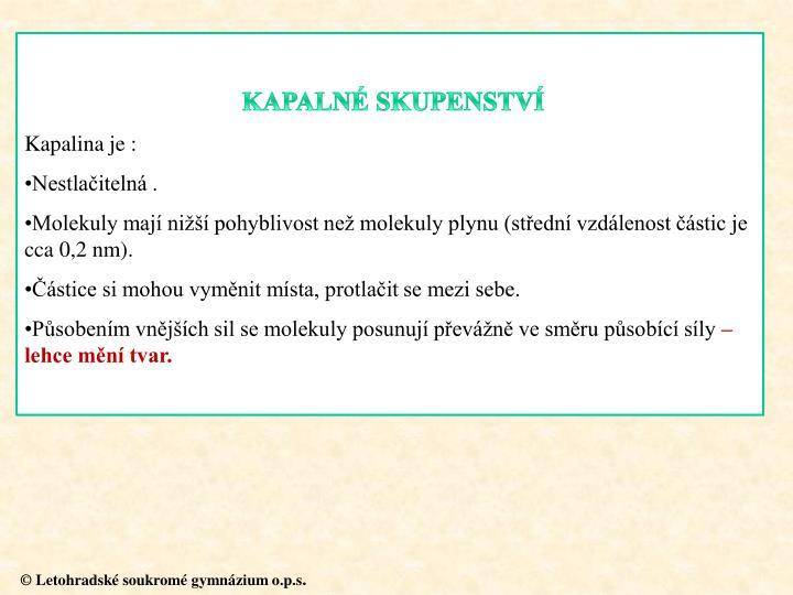 KAPALNÉ