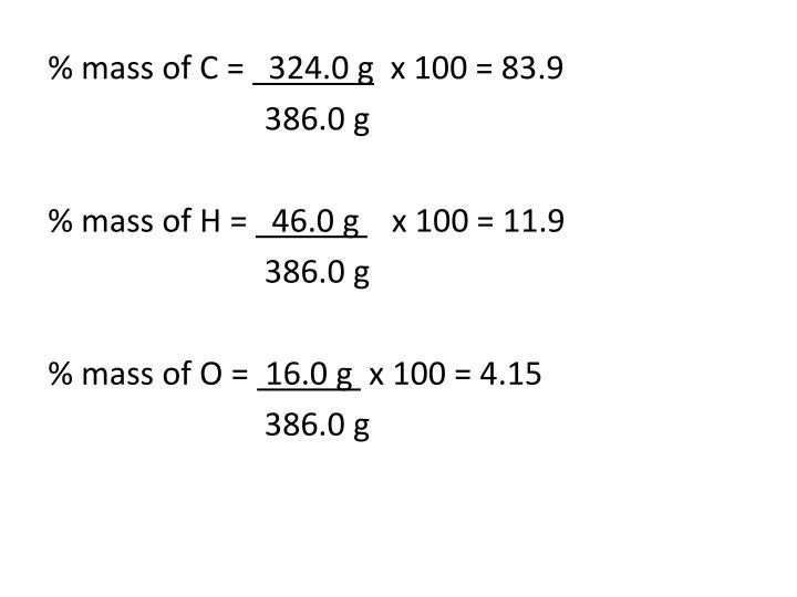 % mass of C =