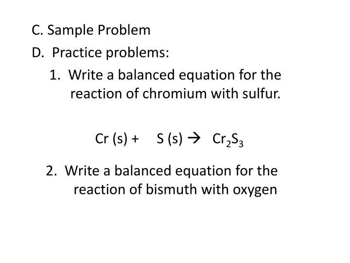 C. Sample Problem