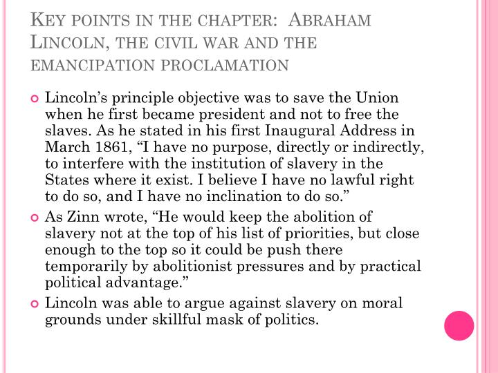 Key points in the chapter: