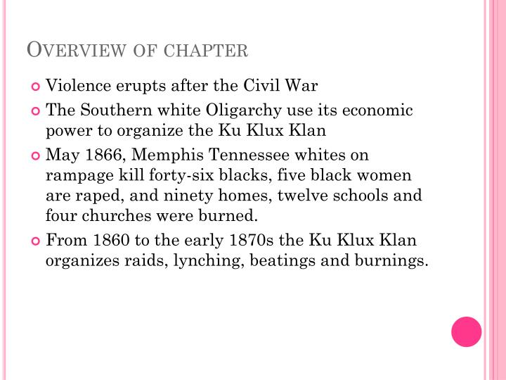 Overview of chapter