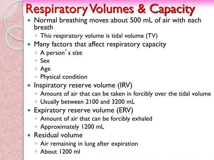 Respiratory Volumes & Capacity