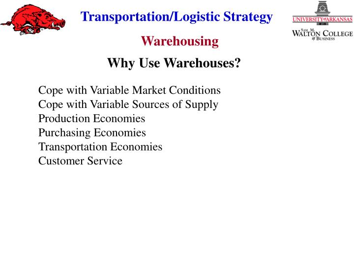 Why Use Warehouses?