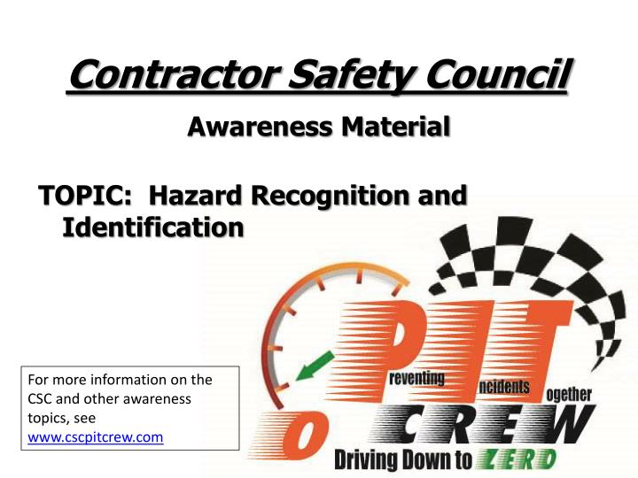 contractor safety council n.