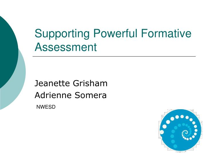supporting powerful formative assessment n.