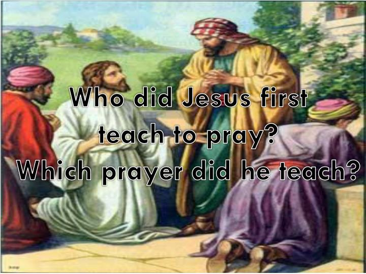 Who did Jesus first