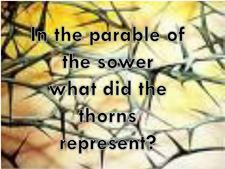 In the parable of