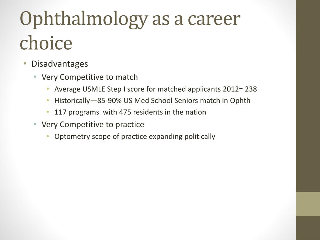 PPT - Ophthalmology as a Career Choice? PowerPoint