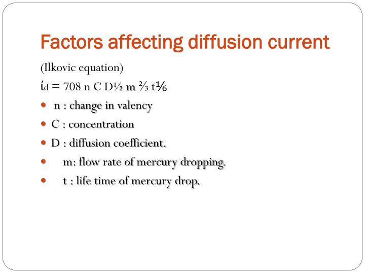 Factors affecting diffusion current