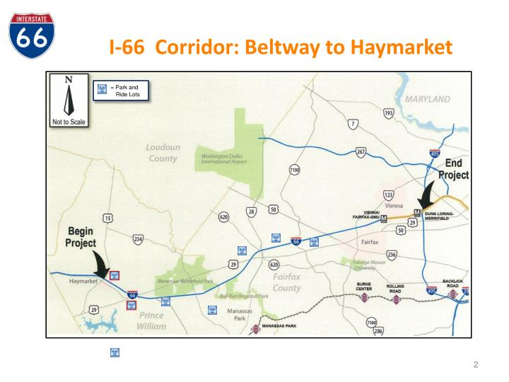 I 66 corridor beltway to haymarket