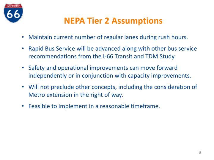 NEPA Tier 2 Assumptions