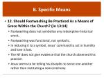 b specific means3