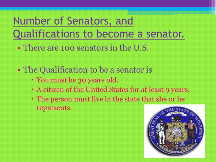Number of Senators, and Qualifications to become a senator.