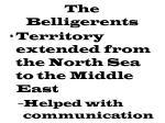the belligerents1