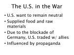 the u s in the war