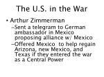 the u s in the war1