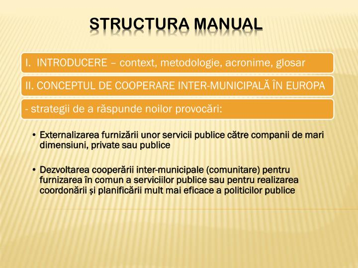 Structura manual