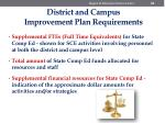 district and campus improvement plan requirements1