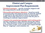district and campus improvement plan requirements2