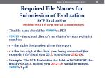 required file names for submission of evaluation