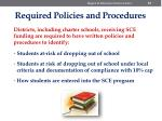 required policies and procedures