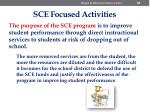 sce focused activities