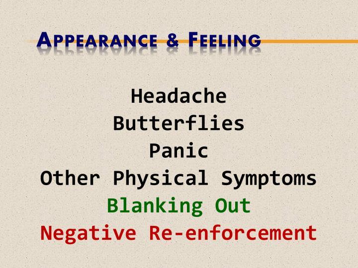 Appearance & Feeling