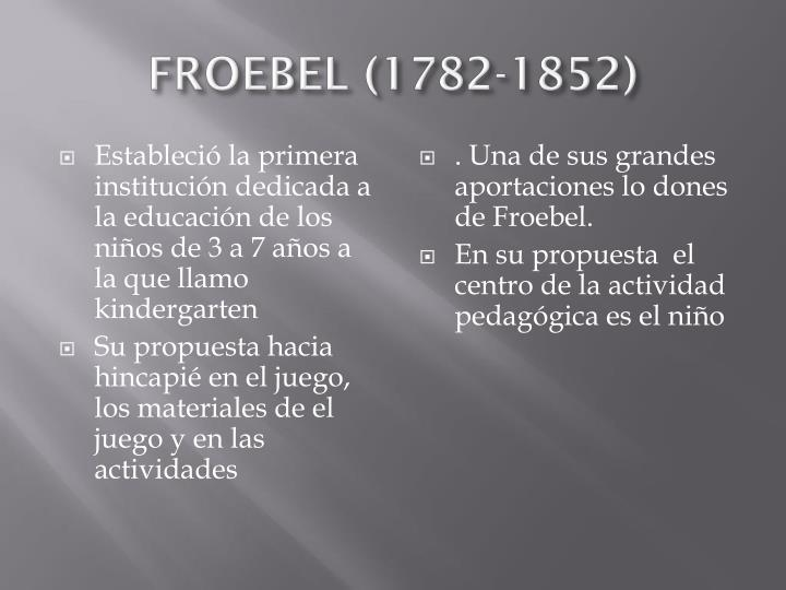 Froebel 1782 1852