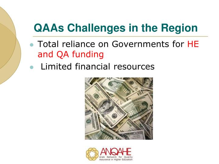 QAAs Challenges in the Region