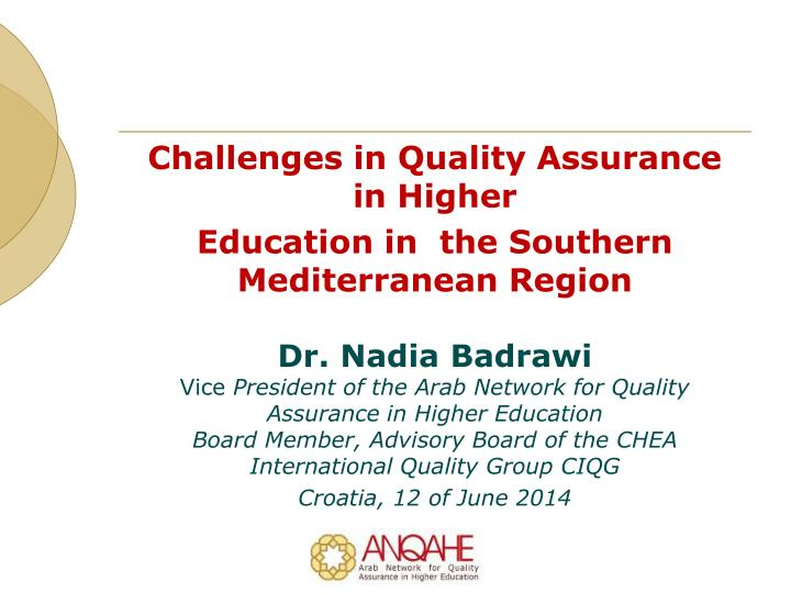 Challenges in Quality Assurance in Higher
