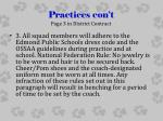 practices con t page 3 in district contract