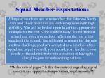 squad member expectations