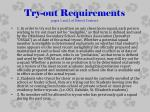 try out requirements pages 1 and 2 of district contract