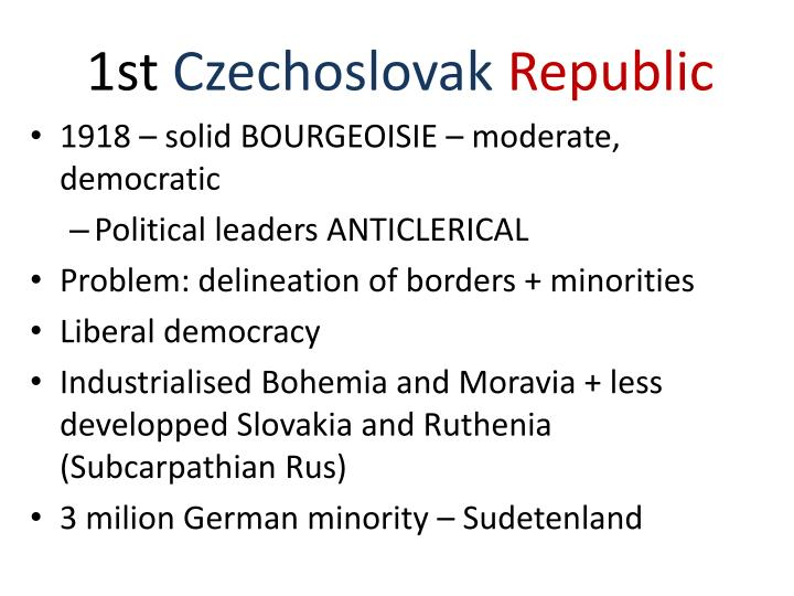 1st czechoslovak republic