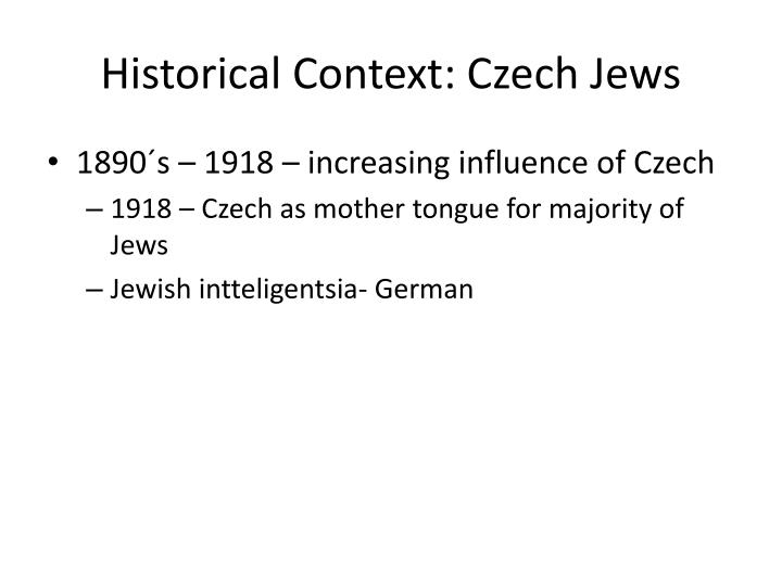 Historical Context: Czech Jews