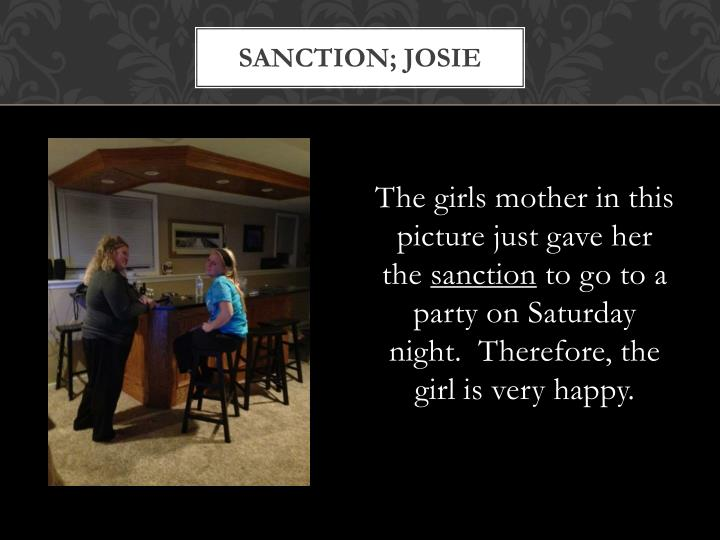 Sanction; josie