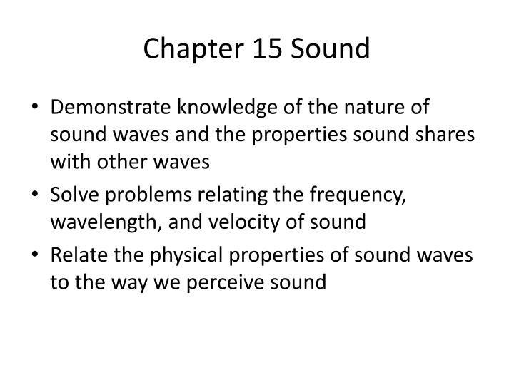 Chapter 15 sound1