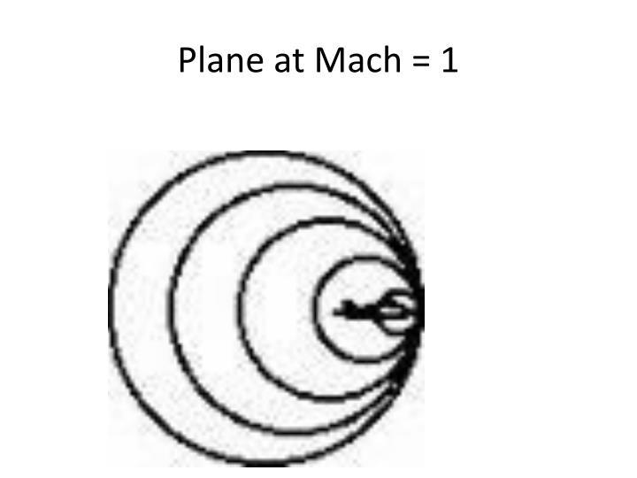 Plane at Mach = 1