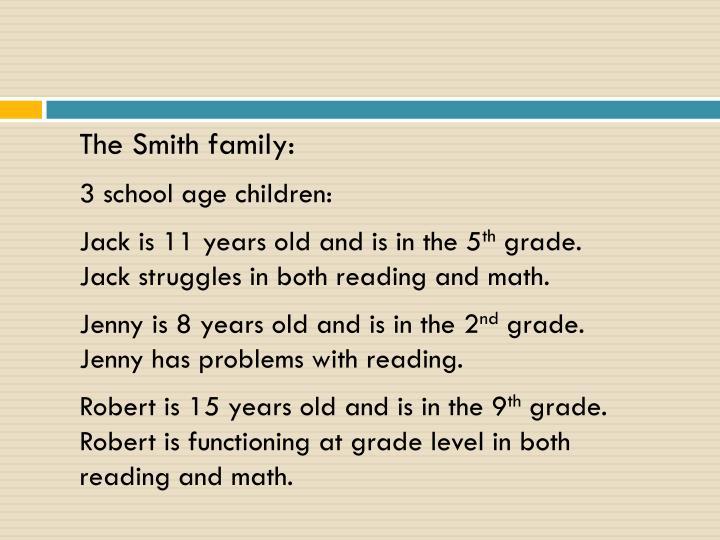 The Smith family: