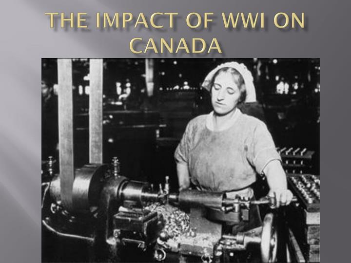 the impact of wwi on canada n.