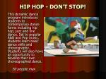 hip hop don t stop