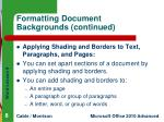 formatting document backgrounds continued2