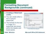 formatting document backgrounds continued6