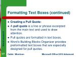 formatting text boxes continued2