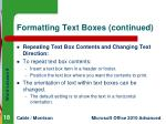 formatting text boxes continued3