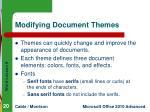 modifying document themes
