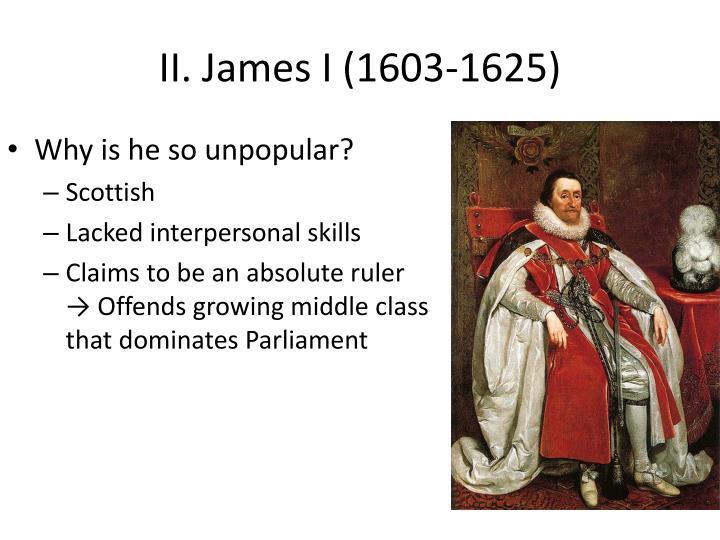 Ii james i 1603 1625