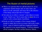 the illusion of mental pictures1