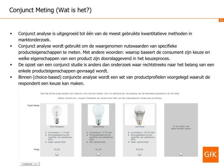 Conjunct Meting (Wat is het?)