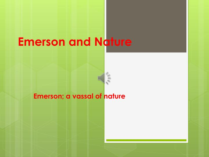 emerson and nature n.